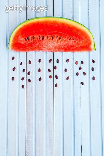 Rainy watermelon - gettyimageskorea