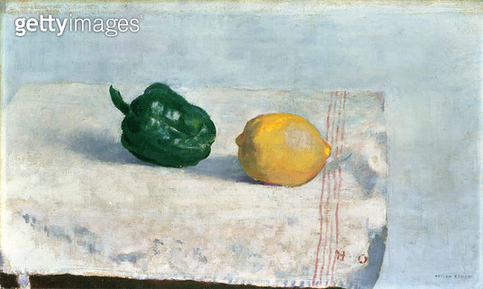 <b>Title</b> : Pepper and Lemon on a White Tablecloth, 1901<br><b>Medium</b> : oil on canvas<br><b>Location</b> : Haags Gemeentemuseum, The Hague, Netherlands<br> - gettyimageskorea