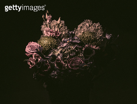 Elegant flower bouquet, moody lighting - gettyimageskorea