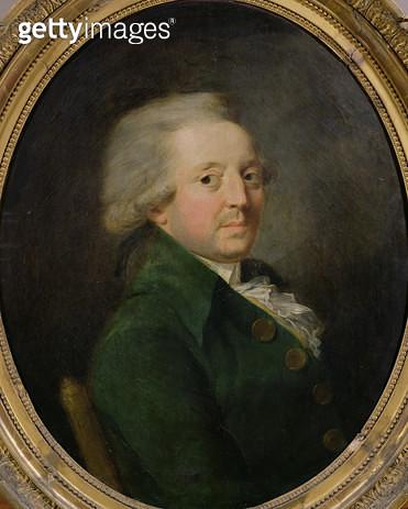 <b>Title</b> : Portrait of Marie-Jean-Antoine-Nicolas de Caritat (1743-94) Marquis of Condorcet (oil on canvas)<br><b>Medium</b> : oil on canvas<br><b>Location</b> : Chateau de Versailles, France<br> - gettyimageskorea