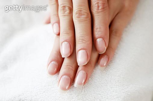 Close up of woman fingernails - gettyimageskorea