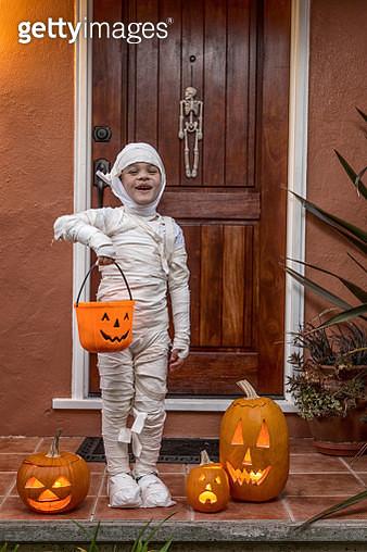 Happy Halloween-Portrait of a Mummy - gettyimageskorea