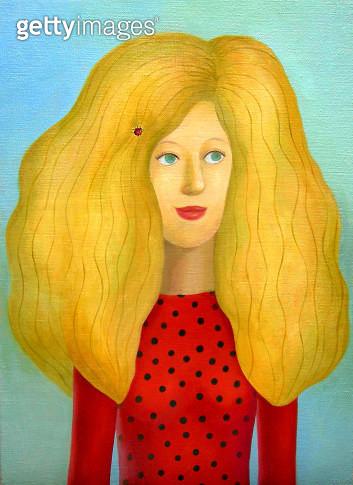 Golden hair woman - gettyimageskorea
