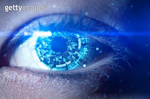 A futuristic robotic eye - gettyimageskorea
