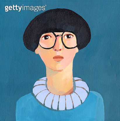 portrait with glasses - gettyimageskorea