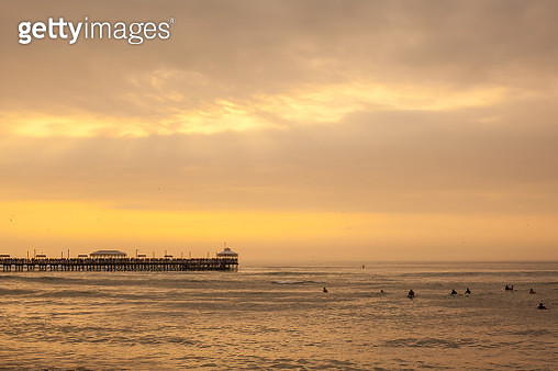 Sunset over the Pier, Huanchaco in Peru - gettyimageskorea