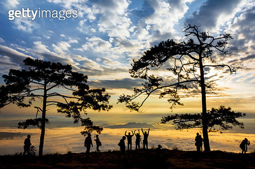 Happy morning at Phu Kradueng National Park, Thailand. - gettyimageskorea