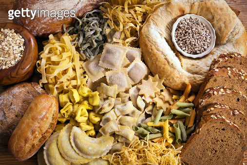 Pasta and Bread - gettyimageskorea