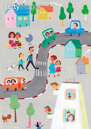 Busy Street - gettyimageskorea