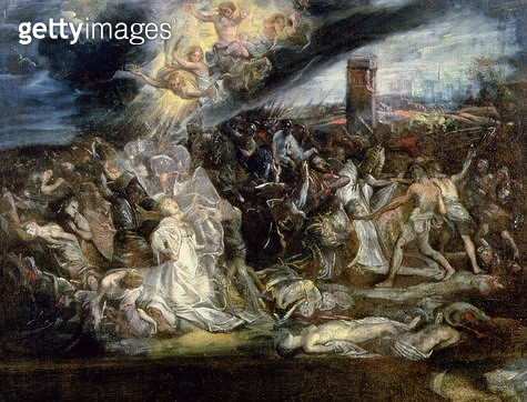 <b>Title</b> : The Martyrdom of St. Ursula and the ten thousand virgins<br><b>Medium</b> : <br><b>Location</b> : Palazzo Ducale, Mantua, Italy<br> - gettyimageskorea