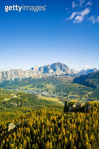 Spectacular view of Cortina d'Ampezzo, Dolomite Alps, Italy - gettyimageskorea