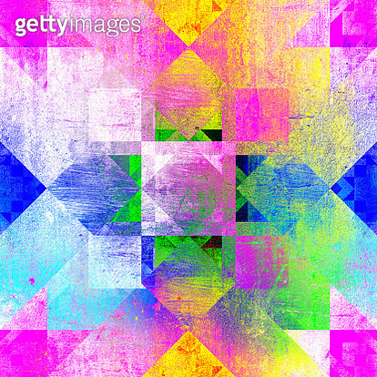 Rainbow quilt seamless mosaic pattern - gettyimageskorea