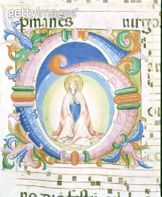<b>Title</b> : Missal 558 f.92 Historiated initial 'G' depicting the Virgin praying<br><b>Medium</b> : vellum<br><b>Location</b> : Museo di San Marco dell'Angelico, Florence, Italy<br> - gettyimageskorea