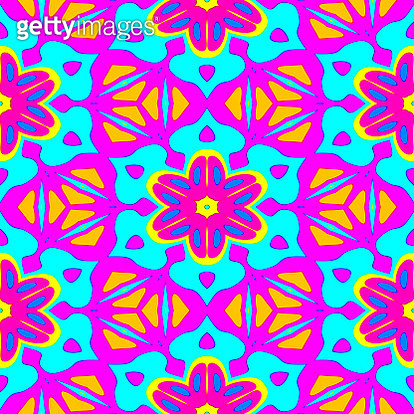 Colorful multicolored seamless mosaic pattern - gettyimageskorea