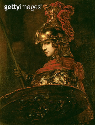 <b>Title</b> : Pallas Athena or, Armoured Figure, 1664-65 (oil on canvas)<br><b>Medium</b> : oil on canvas<br><b>Location</b> : Museu Calouste Gulbenkian, Lisbon, Portugal<br> - gettyimageskorea