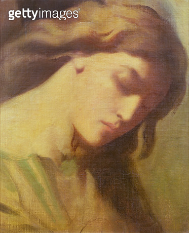 <b>Title</b> : An Angel, study for the Mount of Olives, 1840 (oil on canvas)<br><b>Medium</b> : oil on canvas<br><b>Location</b> : Private Collection<br> - gettyimageskorea