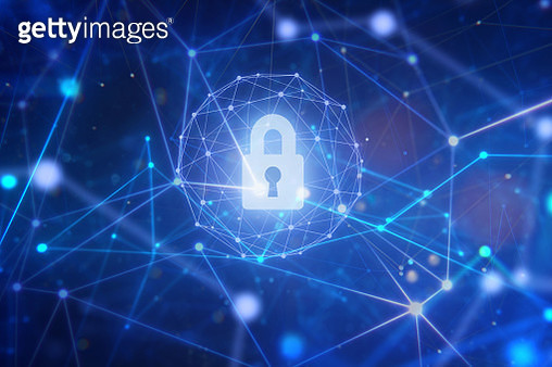 Security system of padlock in network space. - gettyimageskorea