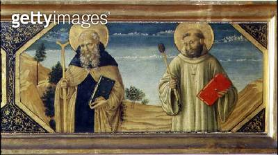 <b>Title</b> : St. Anthony Abbot and St. Benedict (panel) (detail of 78957)<br><b>Medium</b> : oil on panel<br><b>Location</b> : Museo di San Marco dell'Angelico, Florence, Italy<br> - gettyimageskorea