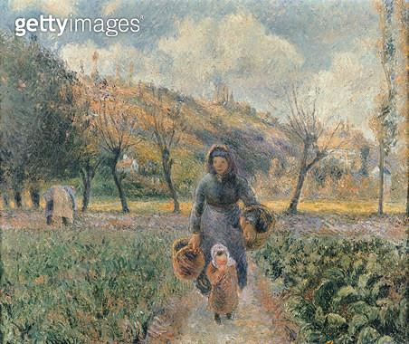 <b>Title</b> : In the Garden (oil on canvas)<br><b>Medium</b> : oil on canvas<br><b>Location</b> : Narodni Galerie, Prague, Czech Republic<br> - gettyimageskorea