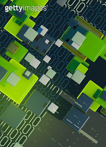 Blocks, binary code data and computer programming - gettyimageskorea