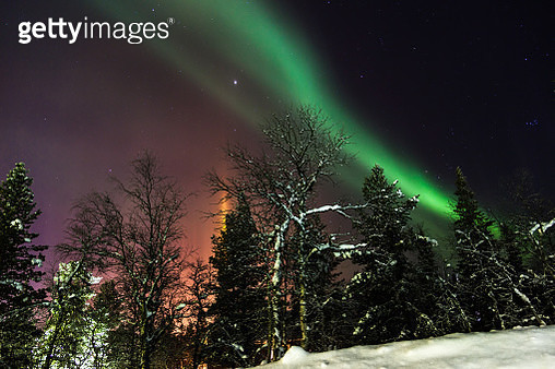 Aurora Borealis, Lapland - gettyimageskorea
