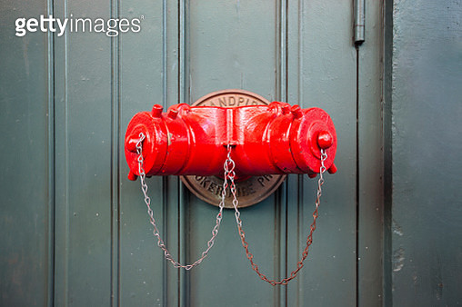 Close up of red fire hydrant in Soho, New York City, NY, United States - gettyimageskorea