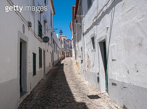 Quaint Medieval Street in Évora - gettyimageskorea