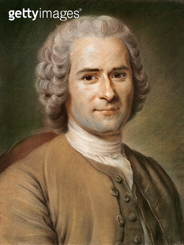 <b>Title</b> : Jean-Jacques Rousseau (1712-78) after 1753 (pastel on paper)<br><b>Medium</b> : pastel on paper<br><b>Location</b> : Musee d'Art et d'Histoire, Geneva, Switzerland<br> - gettyimageskorea