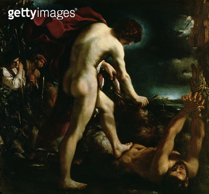 <b>Title</b> : Apollo flaying Marsyas, c.1618 (oil on canvas)<br><b>Medium</b> : <br><b>Location</b> : Palazzo Pitti, Florence, Italy<br> - gettyimageskorea