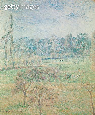 <b>Title</b> : Autumn Morning, 1892 (oil on canvas)<br><b>Medium</b> : oil on canvas<br><b>Location</b> : Van der Heydt Museum, Wuppertal, Germany<br> - gettyimageskorea