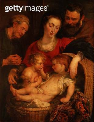 <b>Title</b> : Holy Family of the Basket (panel)<br><b>Medium</b> : oil on panel<br><b>Location</b> : Palazzo Pitti, Florence, Italy<br> - gettyimageskorea