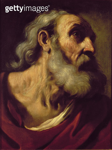 <b>Title</b> : St. Peter<br><b>Medium</b> : oil on canvas<br><b>Location</b> : Palazzo Pitti, Florence, Italy<br> - gettyimageskorea