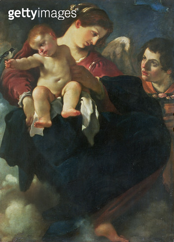 <b>Title</b> : Madonna and Child with a Swallow (Madonna della Rondinella)<br><b>Medium</b> : <br><b>Location</b> : Palazzo Pitti, Florence, Italy<br> - gettyimageskorea