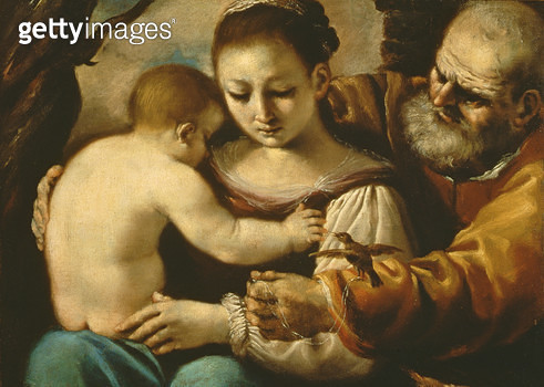 <b>Title</b> : Holy Family<br><b>Medium</b> : oil on canvas<br><b>Location</b> : Palazzo Pitti, Florence, Italy<br> - gettyimageskorea
