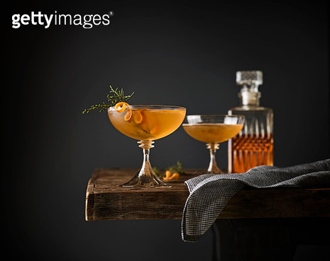 Juniper Manhattan Cocktails - gettyimageskorea