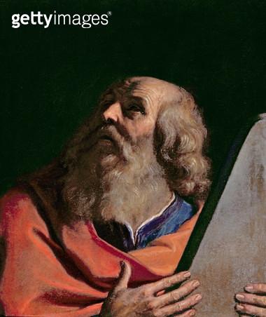 <b>Title</b> : Moses<br><b>Medium</b> : oil on canvas<br><b>Location</b> : Palazzo Pitti, Florence, Italy<br> - gettyimageskorea