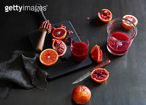 Fresh Blood Orange Juice - gettyimageskorea