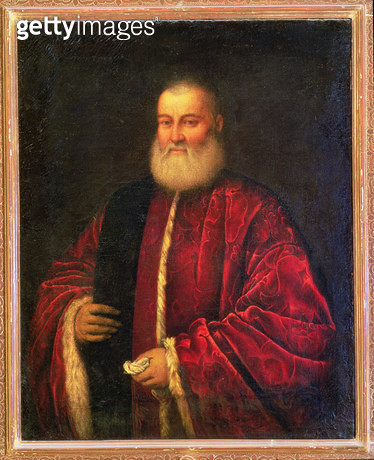 <b>Title</b> : Portrait of an Old Man in Red Robes<br><b>Medium</b> : <br><b>Location</b> : Palazzo Pitti, Florence, Italy<br> - gettyimageskorea