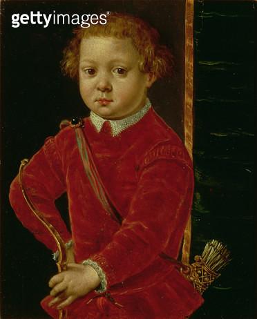 <b>Title</b> : Portrait of Don Garzia de' Medici (b.1547) (panel)<br><b>Medium</b> : <br><b>Location</b> : Palazzo Pitti, Florence, Italy<br> - gettyimageskorea