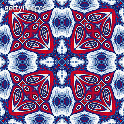 Red and Blue Stars seamless mosaic pattern - gettyimageskorea