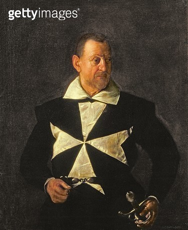 <b>Title</b> : Portrait of a Knight of Malta, possibly Fra Antonio Martelli, 1607-08 (oil on canvas)<br><b>Medium</b> : oil on canvas<br><b>Location</b> : Palazzo Pitti, Florence, Italy<br> - gettyimageskorea