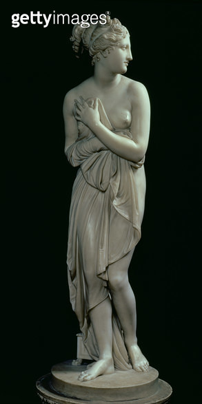 <b>Title</b> : Venus, frontal view, 1810 (marble) (see also 124326)<br><b>Medium</b> : <br><b>Location</b> : Palazzo Pitti, Florence, Italy<br> - gettyimageskorea