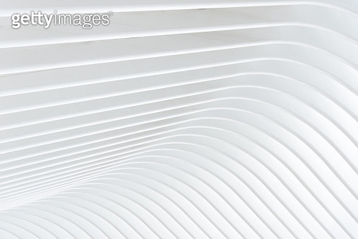 Abstract of white curved architectural - gettyimageskorea