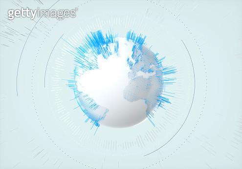 Abstract Data globe - gettyimageskorea