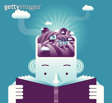Vector illustration - Plowing Brain - gettyimageskorea