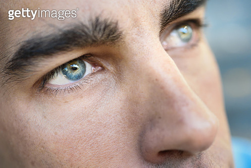 Extreme Close-Up Of Man Eye - gettyimageskorea