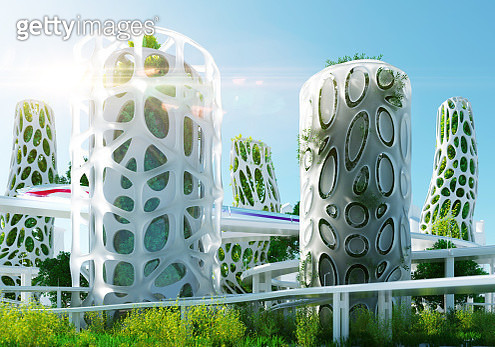 Sustainable Futuristic architecture - gettyimageskorea