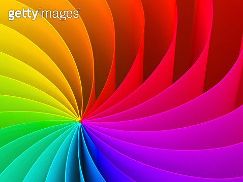 Abstract swirl pattern of rainbow color spectrum - gettyimageskorea
