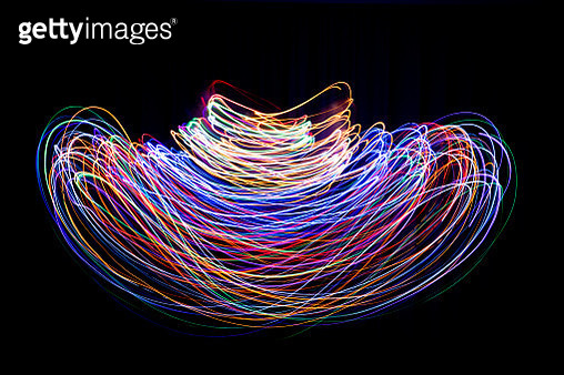 bean shape lighting painting - gettyimageskorea