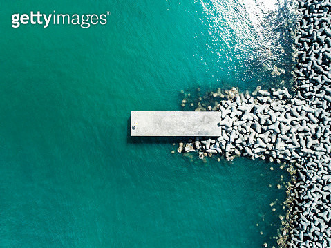 Small wharf and ocean - gettyimageskorea